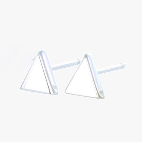 Triangle stud earrings silver