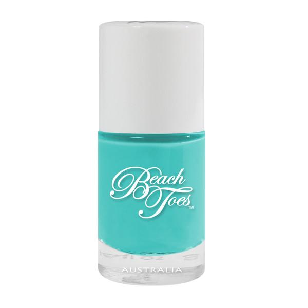beach toes turquoise bay polish