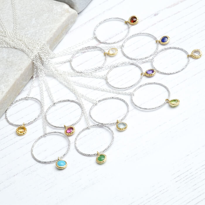Delicate Birthstone Necklaces - SugarMango