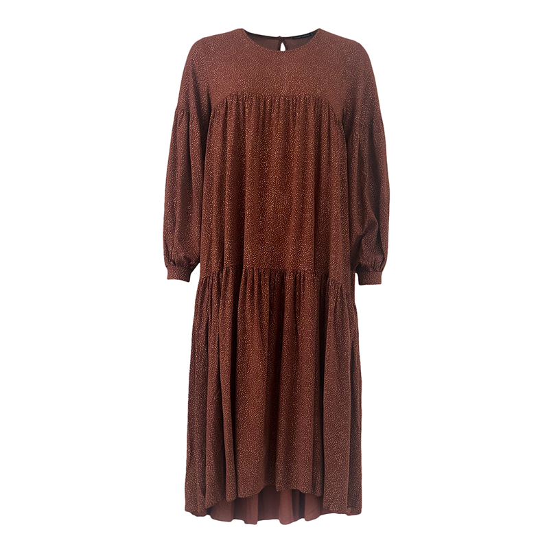Black Colour Lex Dress Mocha