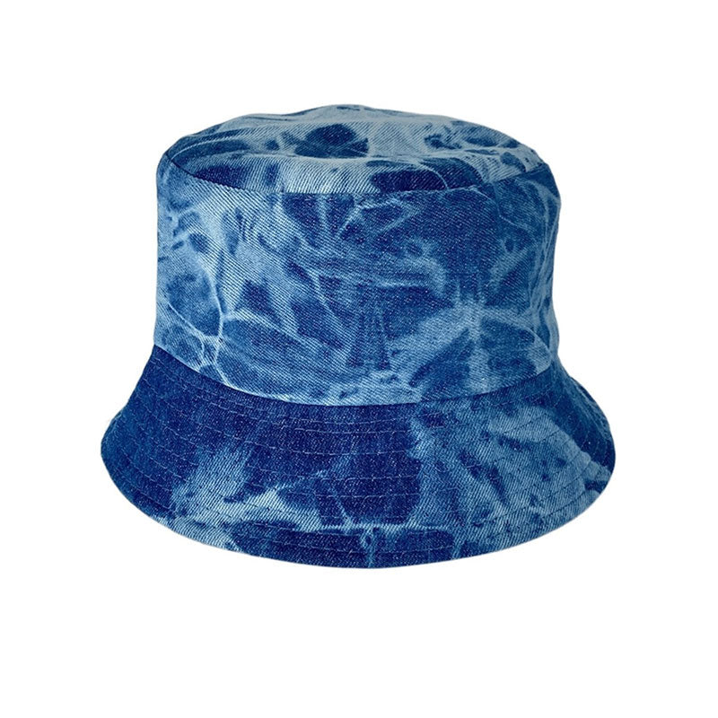 Black Colour reversible bucket hat Jia in denim and black