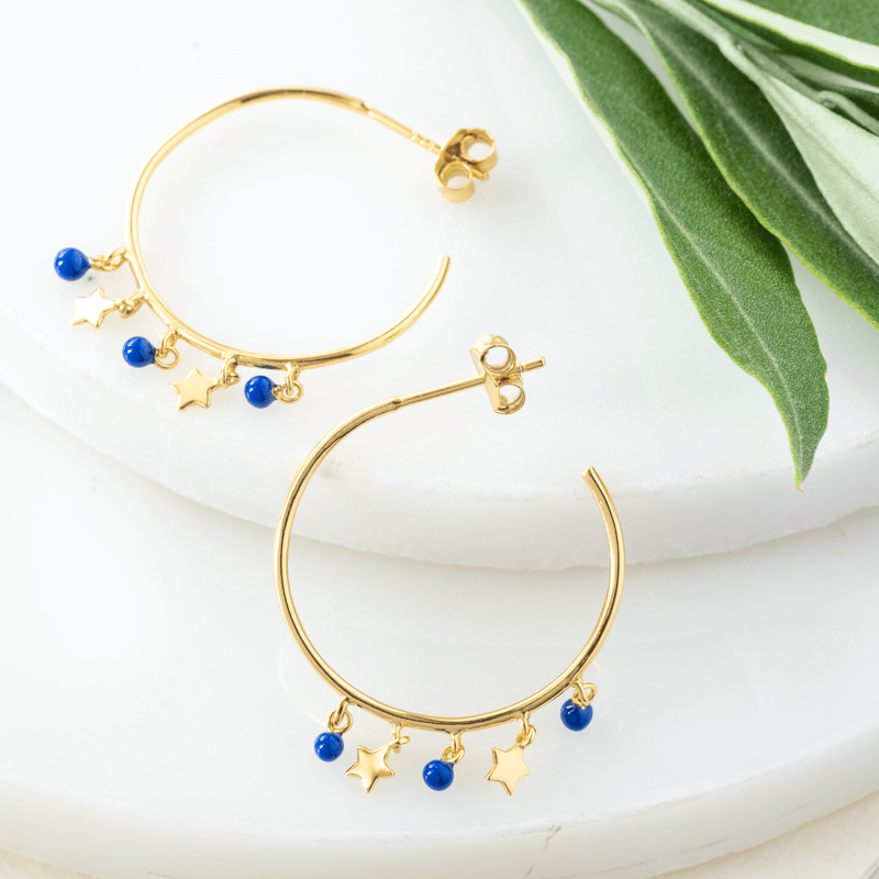 boho hoop earrings gold