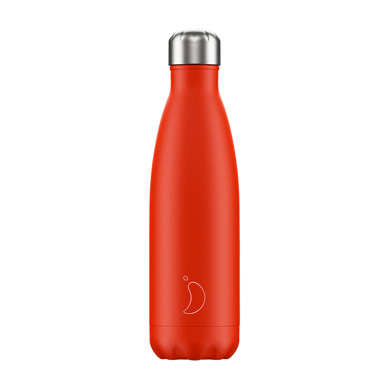 Chilly's water bottle neon red 500ml