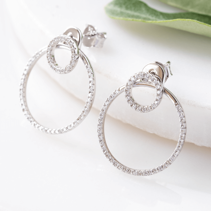 sparkle circle earrings