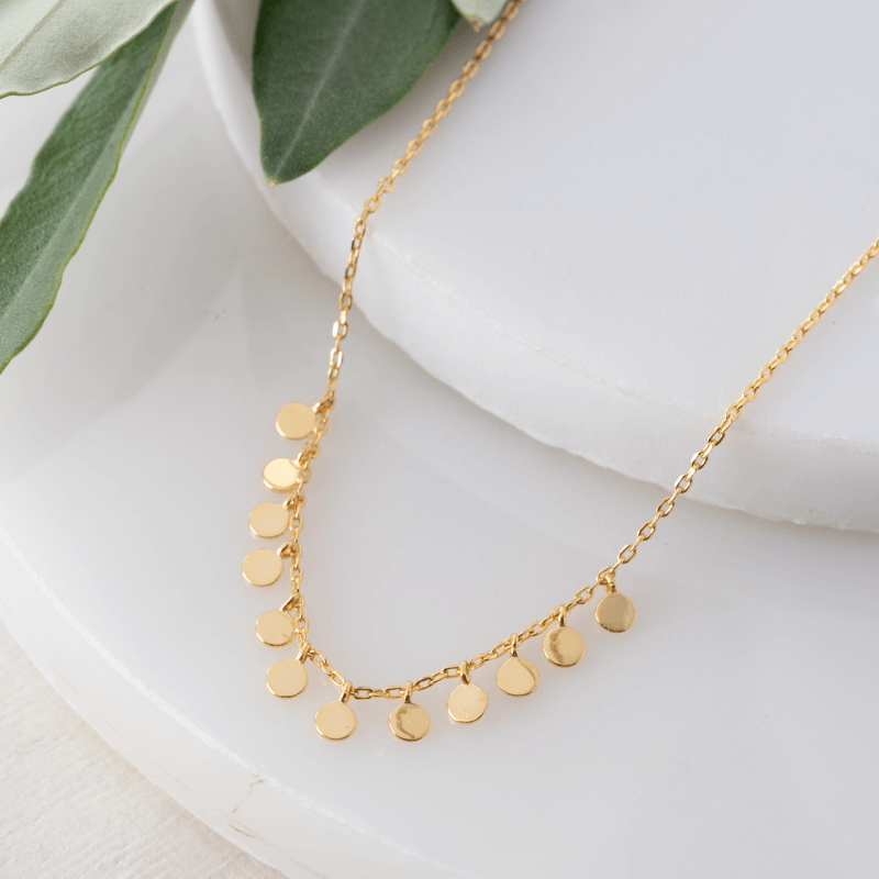 gold layering necklace short
