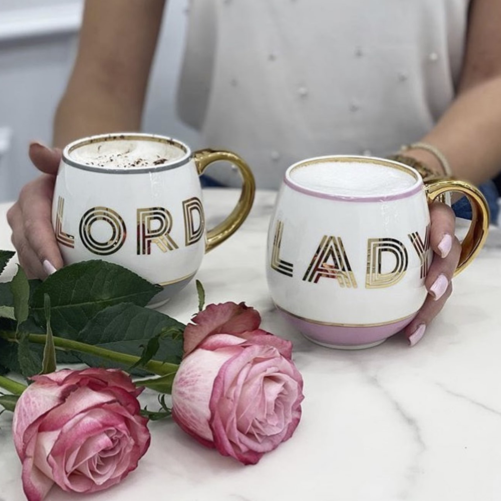 his and hers mug set.  Lord and Lady mug set.
