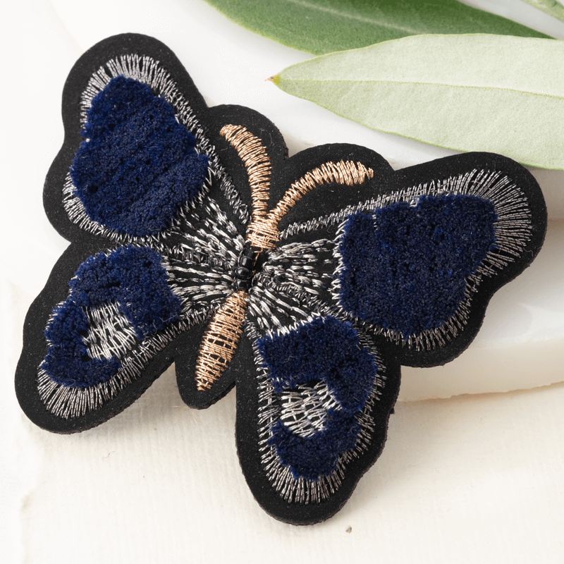 Embroidered Butterfly Pin