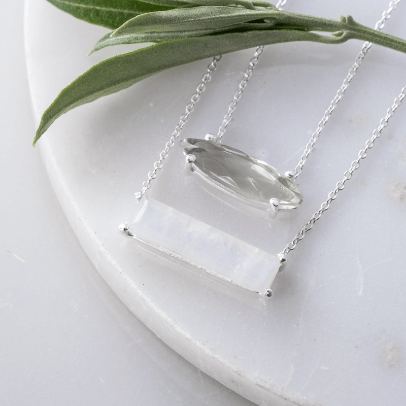 moonstone layered gemstone necklace