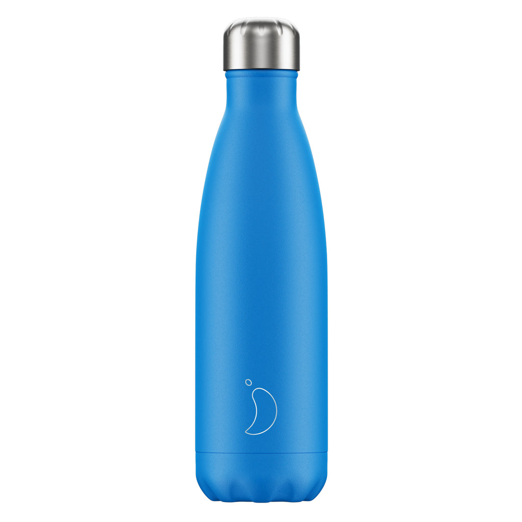 Chilly's Water Bottle Neon Blue 500ml
