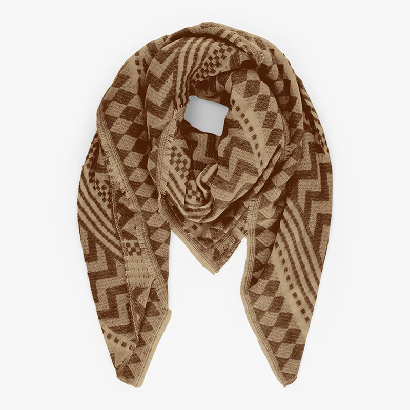 Pieces Sipla Scarf Brown