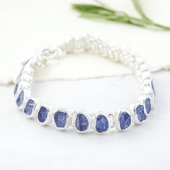 raw gemstone bracelet tanzanite