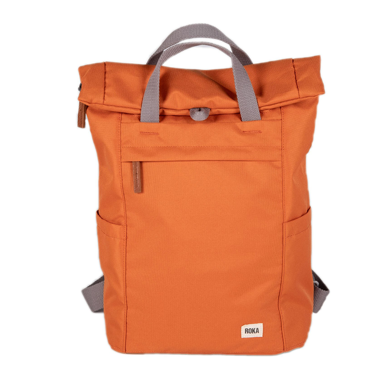 roka sustainable backpack orange