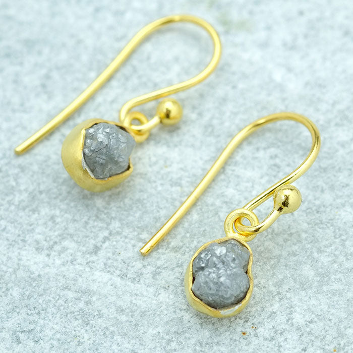 Rough Diamond Vermiel Drop Earrings - SugarMango