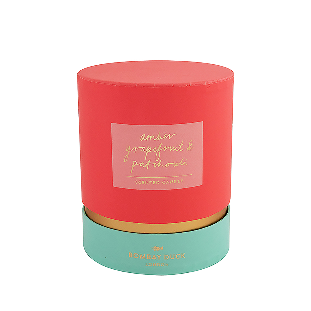 scented candle boxed amber grapefruit & patchouli Bombay Duck