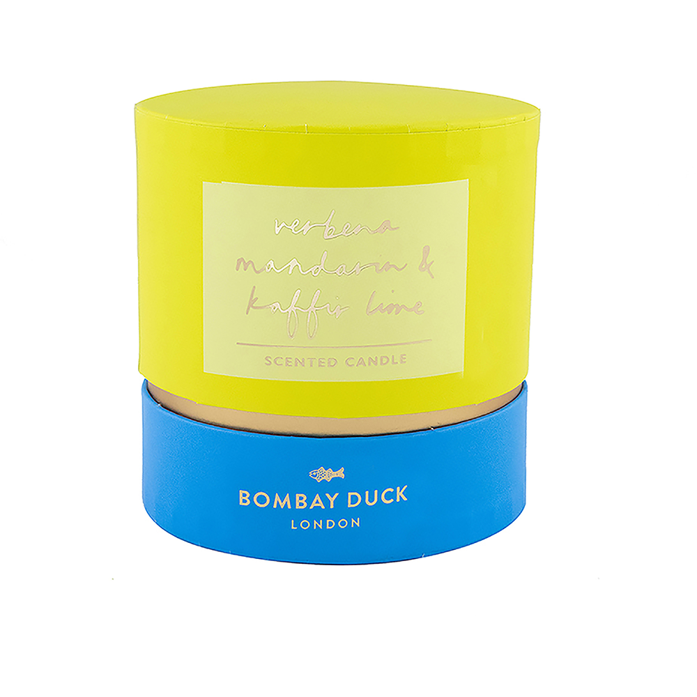 scented candle boxed bombay duck citrus