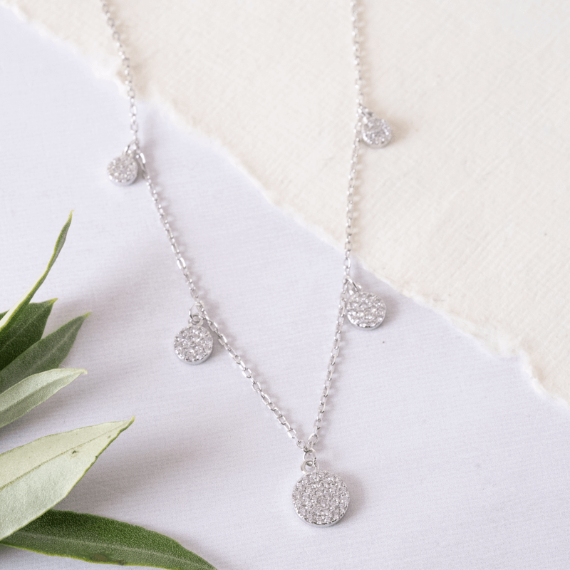 sparkling silver necklace