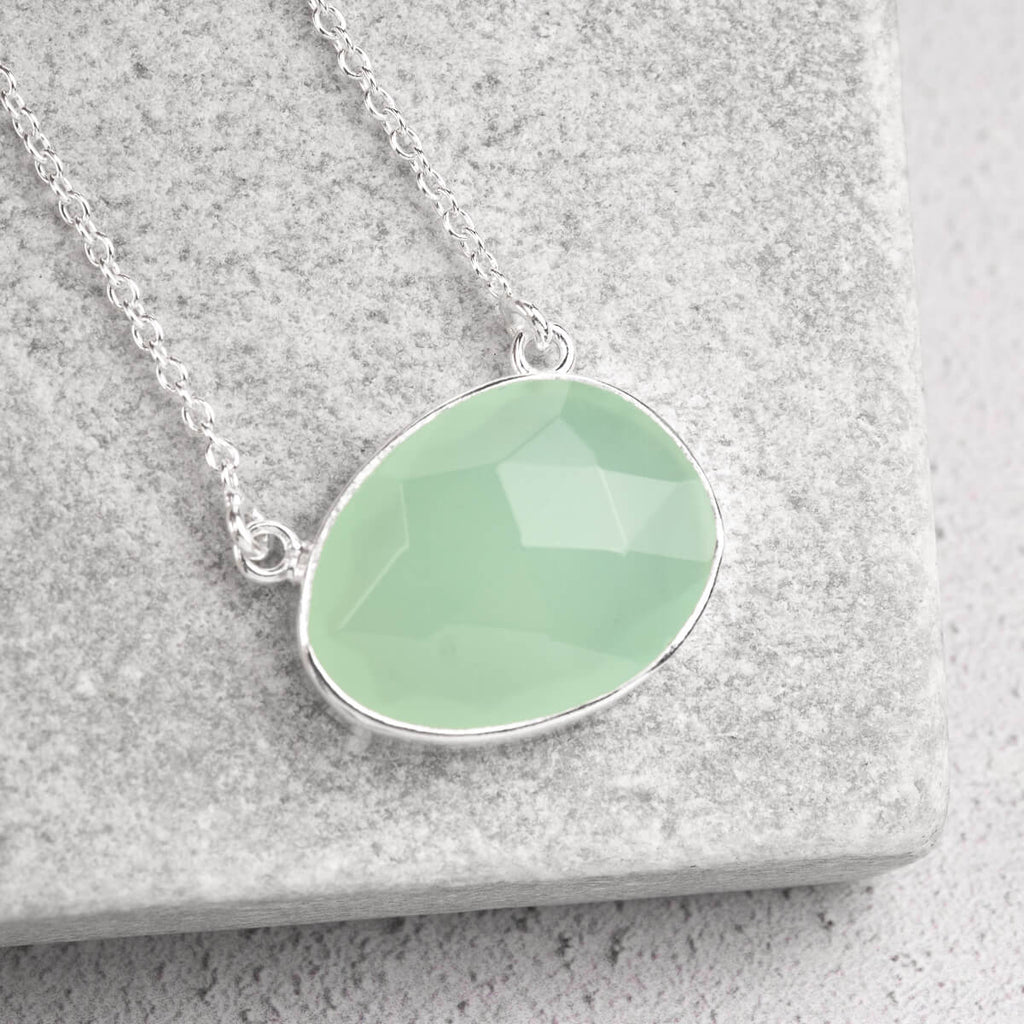 organic shaped gemstone necklace