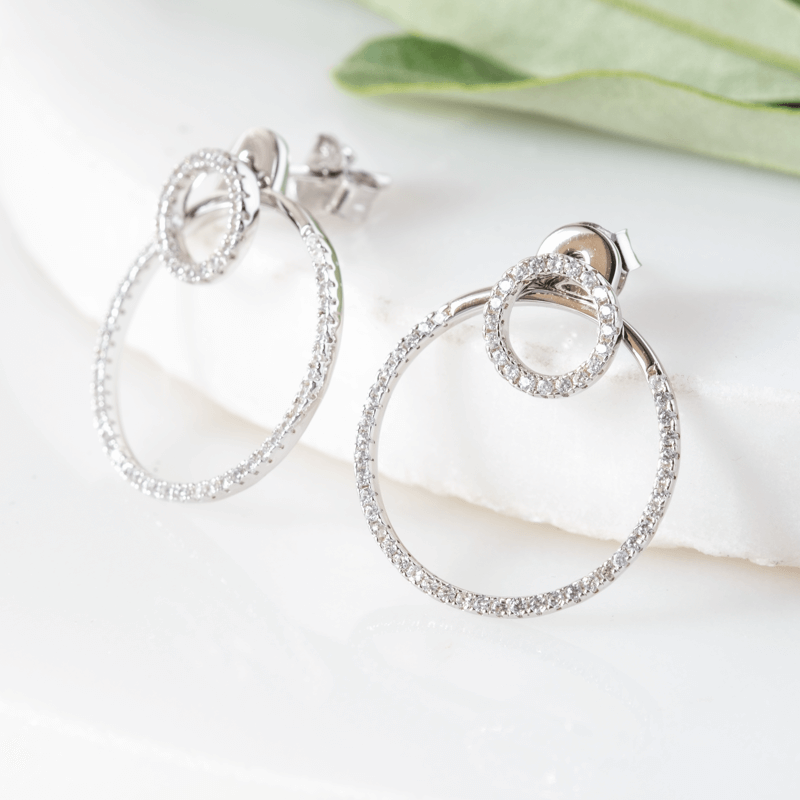 sparkly hoop earrings Stud