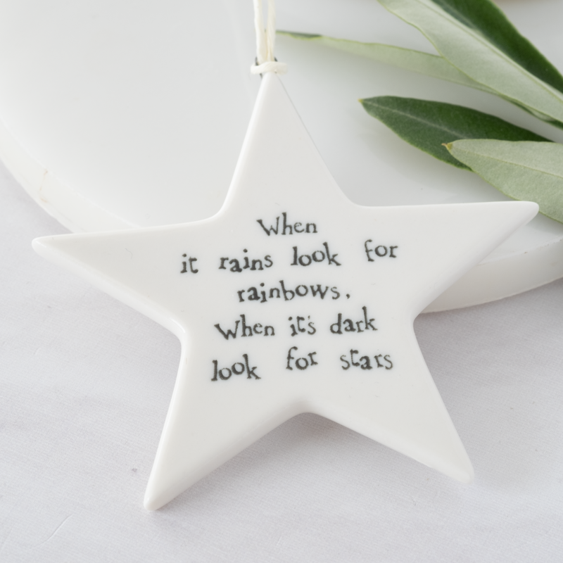 east of india porcelain star gift