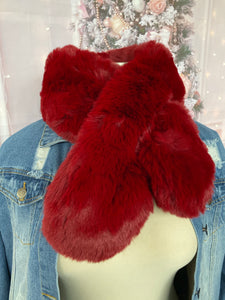 Women's Fur Collar Scarf Faux Fur Scarves Neck Shrug
