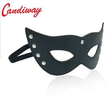Leather Eye-Wear Mask for Night Dance Ball