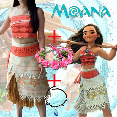 Adult/child Moana Costume