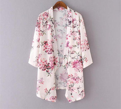 Loose Shawl Kimono Cardigan Top Cover up