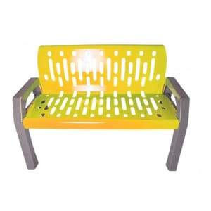 Specialty Product Hardware Ltd. Frost 2040-Yellow - Stream 4' Steel Bench