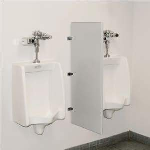 "Specialty Product hardware ltd. Steel Urinal Screen with Wall Mounting Brackets - 18""W x 48""L (Gray)"