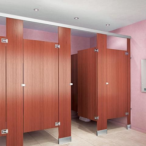Plastic Laminate Moisture Guard Toilet Partitions