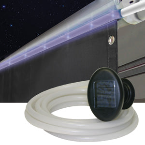 15\'L x 7-1/2\' Drop  Front Mount  w/ Solar Rope Lights Awning Sun Block Panel