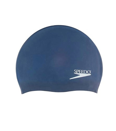Speedo Solid Silicone Performance Swim Caps (navy)