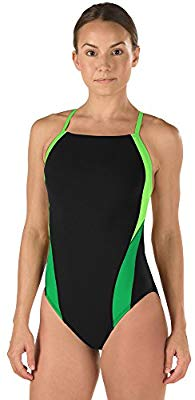 Launch Splice Cross Back - Speedo Endurance+ (green/black) - Olym's Swim Shop