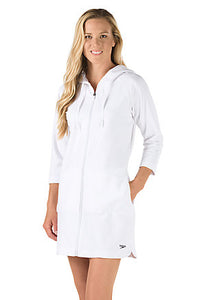 Speedo Cotton Robes Unisex (white) - Olym's Swim Shop