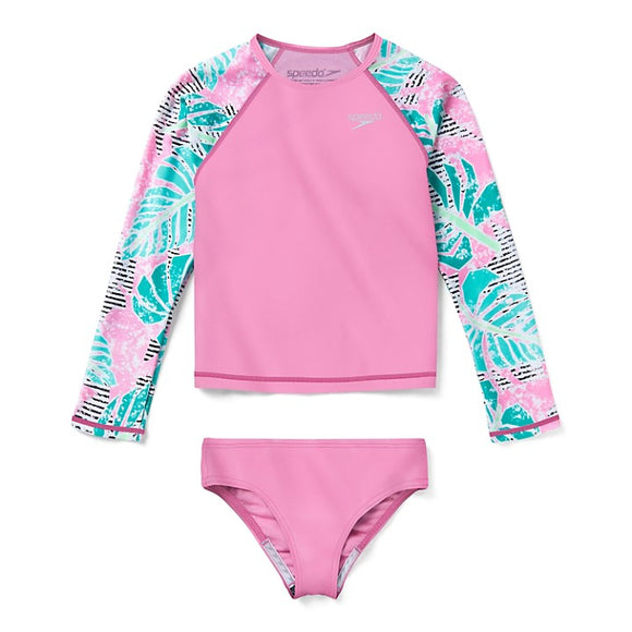 Speedo LONG SLEEVE PRINT RASHGUARD TWO PIECE