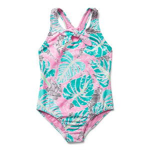 Speedo Girls Print Tie One Piece