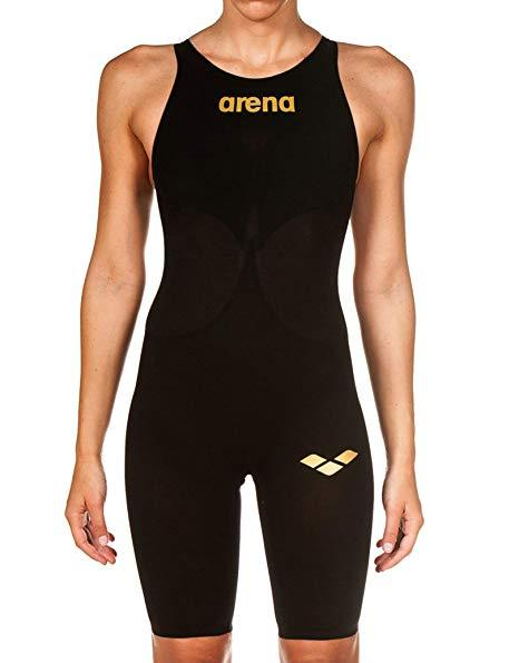ARENA Female Powerskin Carbon-Air Full Body Short Leg Open Back