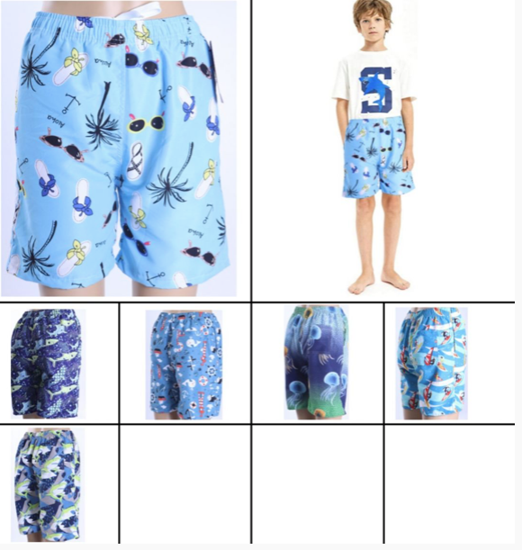Swim Style Beach Collection Boys Shorts
