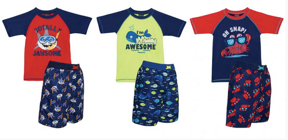 A-Swim Style Beach Collection Boys (with Rashguard)