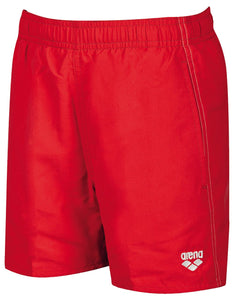 Arena Boys Solid Trunks Junior (red) - Olym's Swim Shop