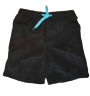 Swim-Style Boys Solid Trunks (black)