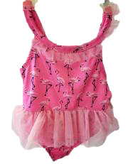 Swim-Style Girl's Small One-Piece (flamingos)