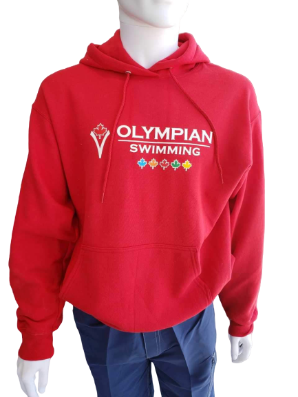 Olympian Swimming Hoodies (RED) - Olym's Swim Shop