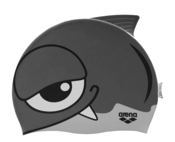 ARENA Junior Silicone Cap (thunder silver) - Olym's Swim Shop