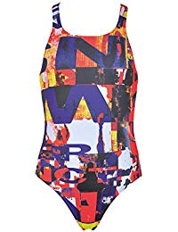 Arena Girls Racerback Instinct Jr One-Piece (black / black) - Olym's Swim Shop