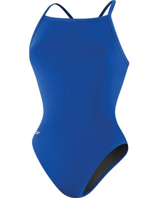 Solid Flyback Training Suit - Speedo Endurance+ (blue 22-28) - Olym's Swim Shop