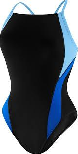 Launch Splice Cross Back - Speedo Endurance+ (blue/black) - Olym's Swim Shop