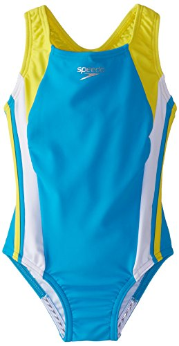 Girls Infinity Splice Xtra Life LYCRA® Fiber (yellow) - Olym's Swim Shop