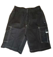 Swim-Style Boys Junior Trunks (black)