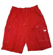 Swim-Style Boys Solid Trunks (red)